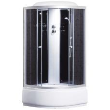Фото -Гидробоксы - Гидробоксы Душевая кабина Sansa 9900A, 100 х 100 см, профиль сатин, стекло серое, заднее стекло черное
