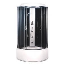 Фото -Гидробоксы - Гидробоксы Гидробокс Sansa SK-909/40, 90 х 90 см, профиль сатин, стекло серое, заднее стекло черное