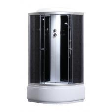 Фото -Гидробоксы - Гидробоксы Душевая кабина Sansa 9900A, 80 х 80 см, профиль сатин, стекло серое, заднее стекло черное
